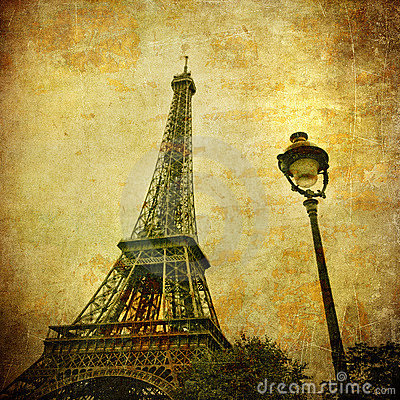 Free Vintage Image Of Eiffel Tower, Paris, France Royalty Free Stock Photos - 20486628