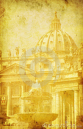Free Vintage Image Of St. Peter S Basilica Stock Photos - 5998743