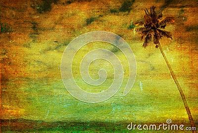 Vintage image of palm tree