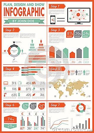 Vintage infographics set.