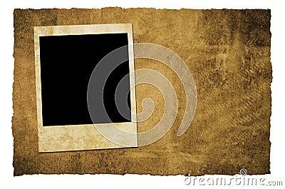 Vintage instant camera frame