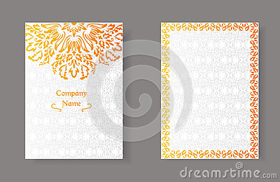 Vintage islamic style brochure and flyer design template for Muslim will template