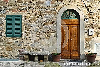 Vintage italian front door