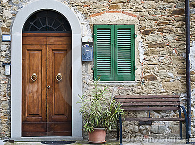 Vintage Italian Front Door Stock Photos - Image: 21759473