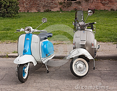 Vintage italian scooters Editorial Stock Photo