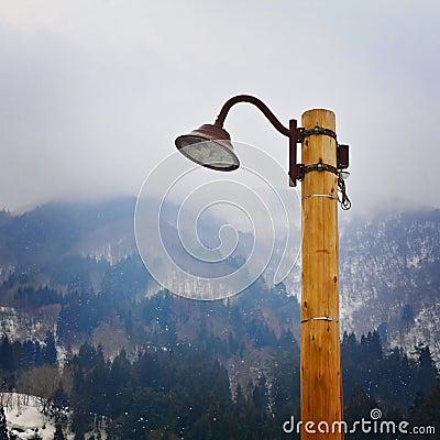 Vintage Japanese Post Lamp