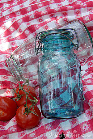 Vintage Jars Antique Table Cloth