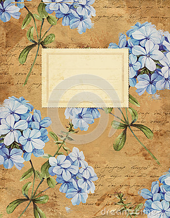 Free Vintage Jasmine Floral Notebook Cover Stock Photo - 58421090