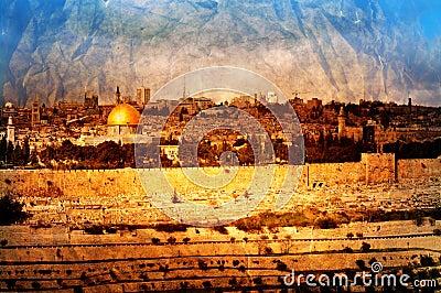 Vintage Jerusalem panorama
