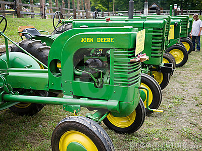 Vintage John Deere Antique Tractors Editorial Photography