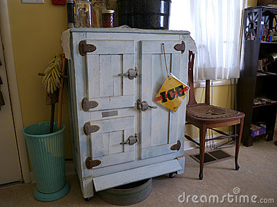 Vintage kitchen with icebox