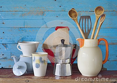 Vintage kitchenware and dishes