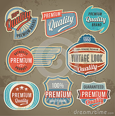 Free Vintage Label Set. Vector Retro Design Banner Backgrounds Royalty Free Stock Photography - 54296357