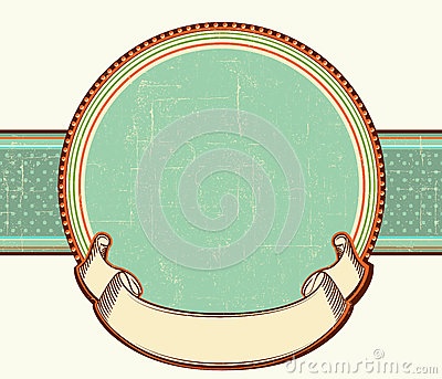 Vintage label.Vector illustration background for t