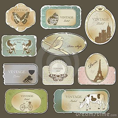 Free Vintage Labels Royalty Free Stock Images - 21913329