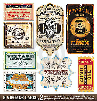 Vintage Labels Collection - Set 2