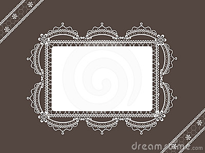 Vintage lace background with frame