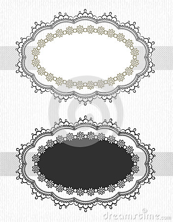 Vintage lace borders set