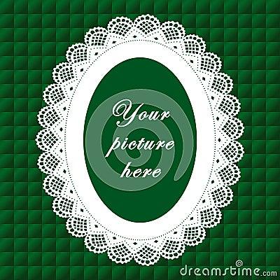 Vintage Lace Frame, Seamless Background
