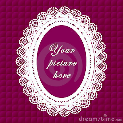 Vintage Lace Frame, Seamless Background