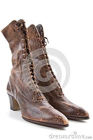 Free Vintage Ladies Boots Stock Image - 22393761