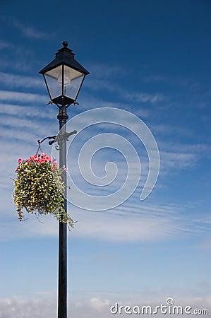Vintage Lamp post scene