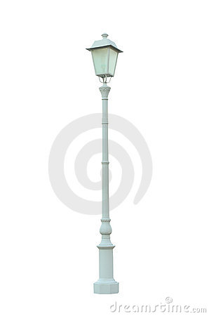 Vintage Lamp Post Street Road Light Pole isolated