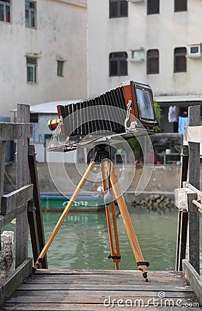 Vintage large format camera