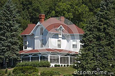 Vintage Large Luxury Mansion Estate Home by Woods