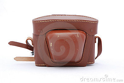 Vintage leather camera case