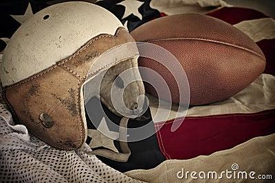 Vintage Leather Football Helmet background