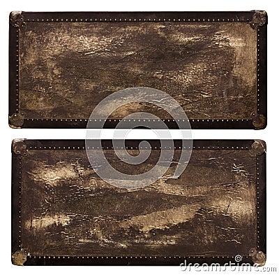 Vintage leather travel box