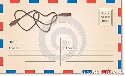 vintage letter template