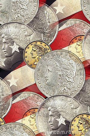 Vintage Liberty faces, stars & stripes