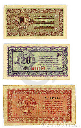 Vintage Lira Currency