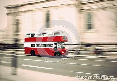 Vintage London bus