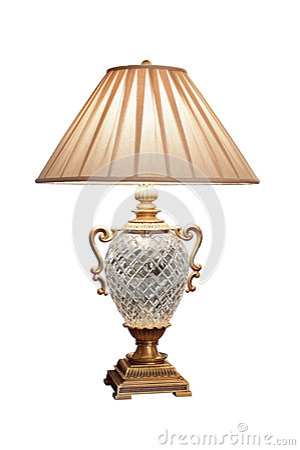 vintage look electric table lamp stock photo image 53280129. Black Bedroom Furniture Sets. Home Design Ideas