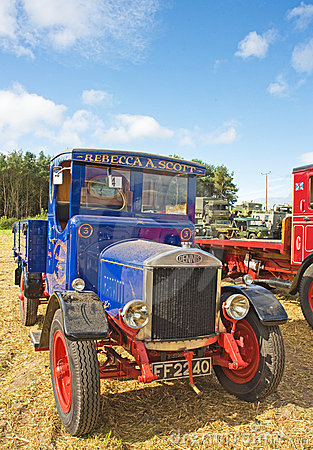 Vintage lorry at Roseisle  Rally. Editorial Image