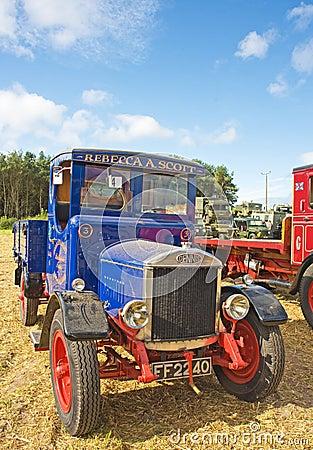 Vintage lorry at Roseisle  Rally. Editorial Image