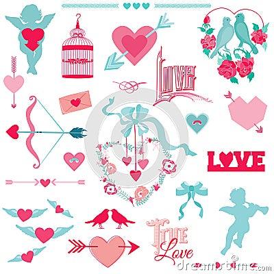 Vintage Love Elements
