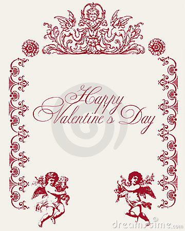 Vintage love vector background