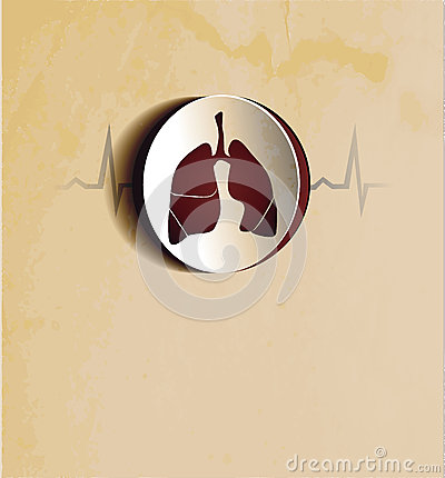 Vintage lungs wallpaper