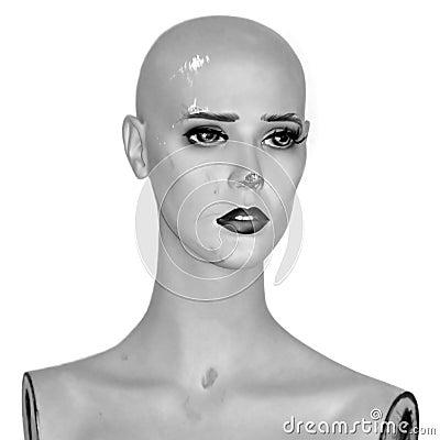 Vintage mannequin doll