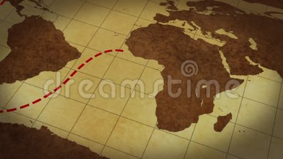 new styles 7036c c69a4 Vintage Map Of The World With Animated Route Stock Footage - Video of  creative, globe  133630308