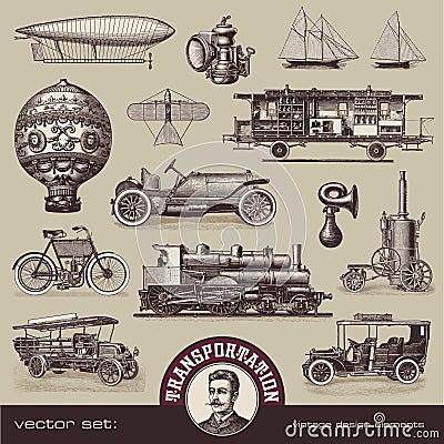 Vintage means of transportation