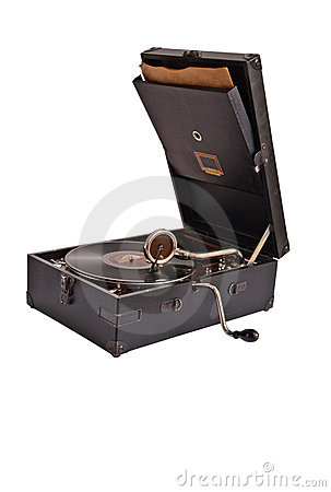 Vintage mechanical record player2