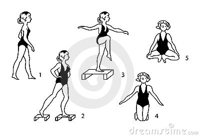 Vintage medical gymnastic exercises.