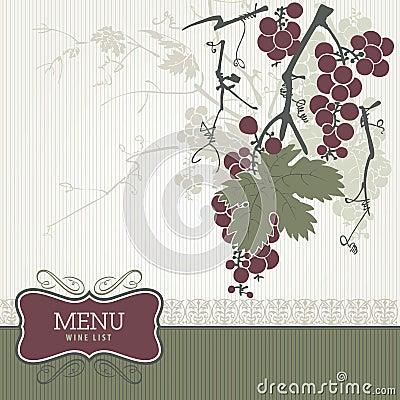 Vintage menu - wine list