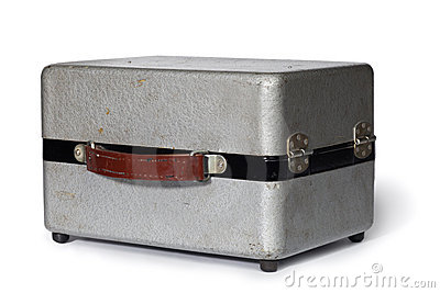 Vintage metal gray case