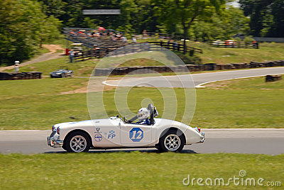 Vintage MG sports car racing Editorial Photo
